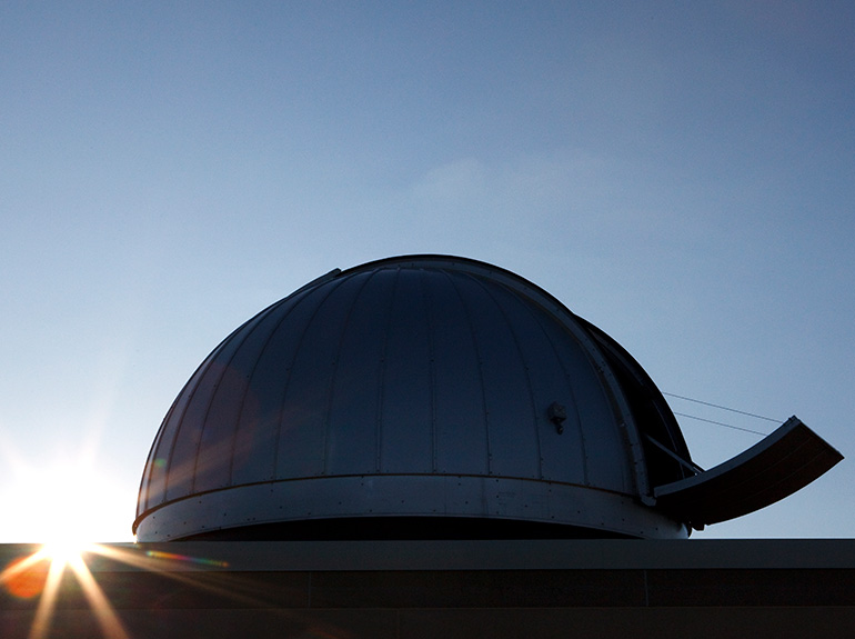 The exterior dome of the St Thomas observatory.