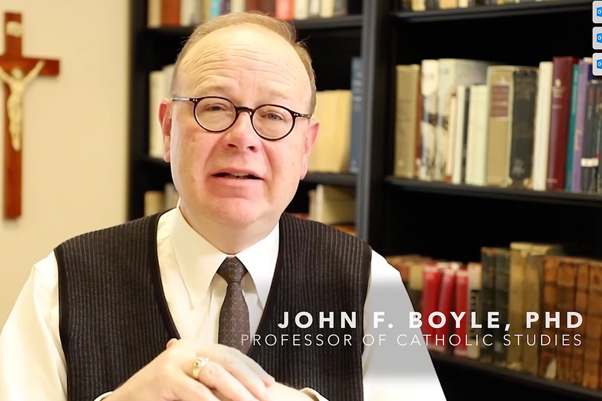 John F. Boyle, PhD, Professor of Catholic Studies