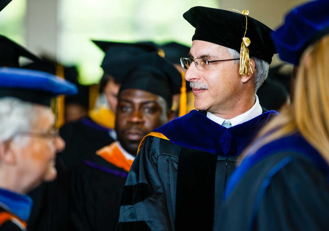 Professor Orzolek at Commencment
