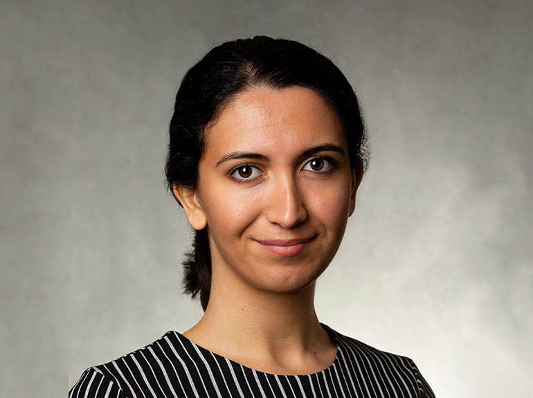 Studio headshot of faculty member Dr. Shaherzad Ahmadi.