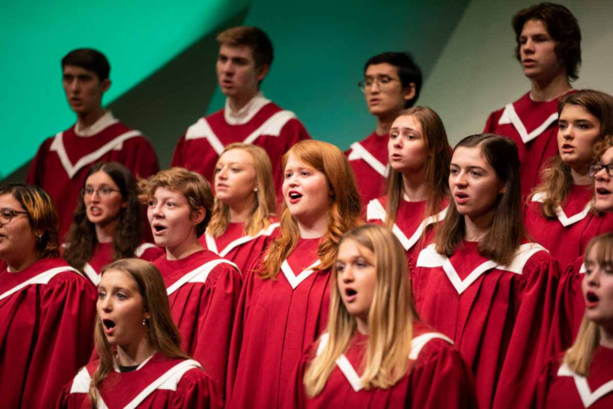 The Liturgical Choir performs during the Christmas Concert.