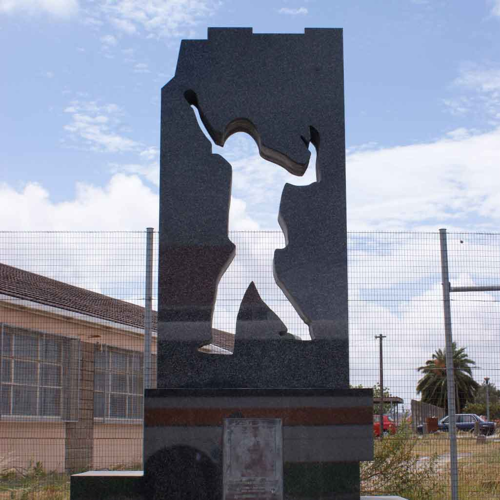 Photo of the Gugulethu Seven Memorial in Cape Town, South Africa.